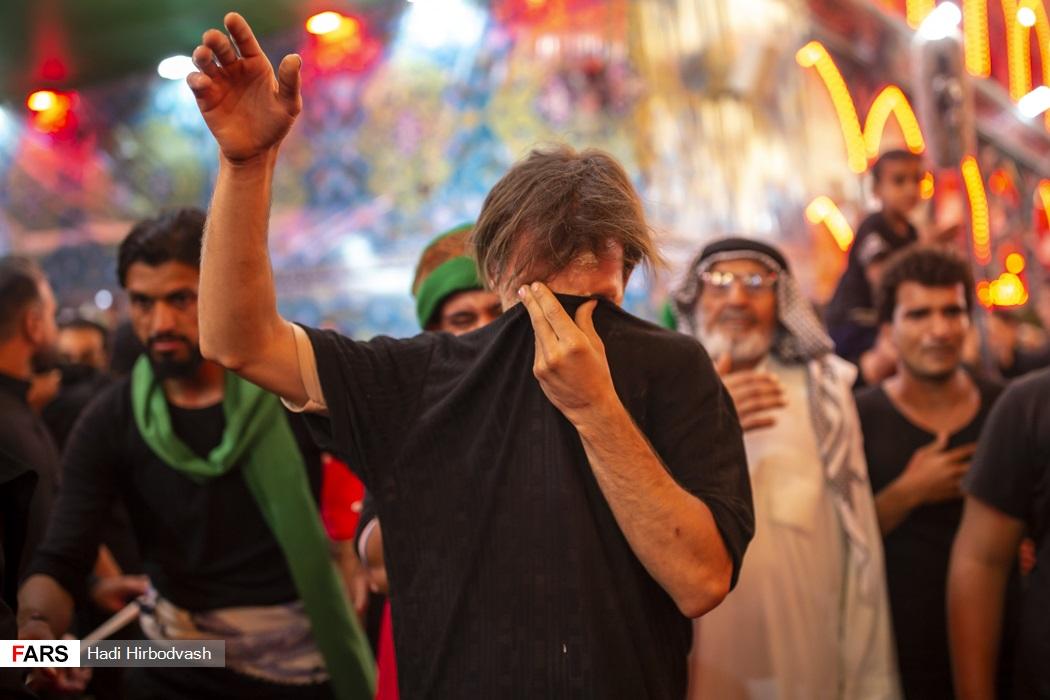 منقلب شدن عزاداران اربعین در حرم اباعبدالله + عکس