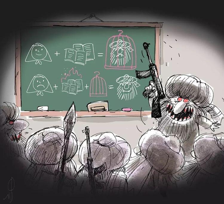 دلیل مخالفت طالبان با تحصیل دختران! + عکس