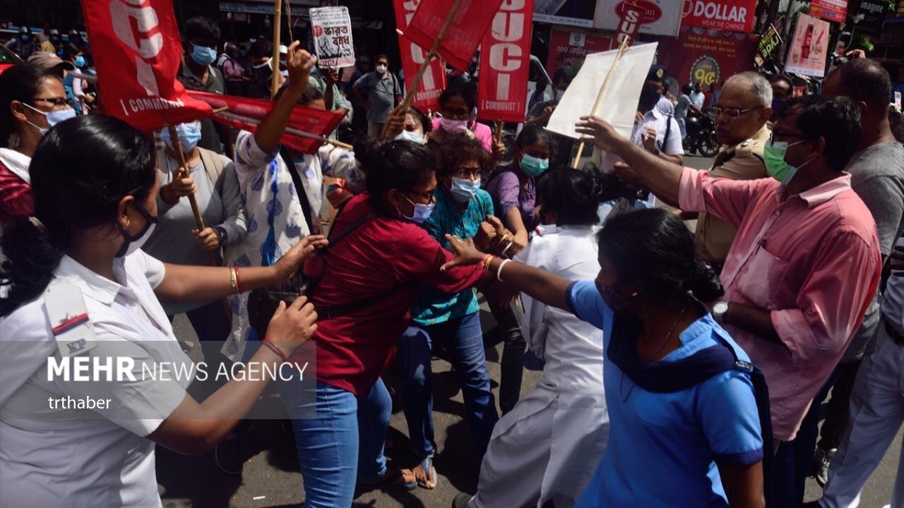 تجمع اعتراضی کشاورزان هند علیه اصلاحات دولتی + عکس
