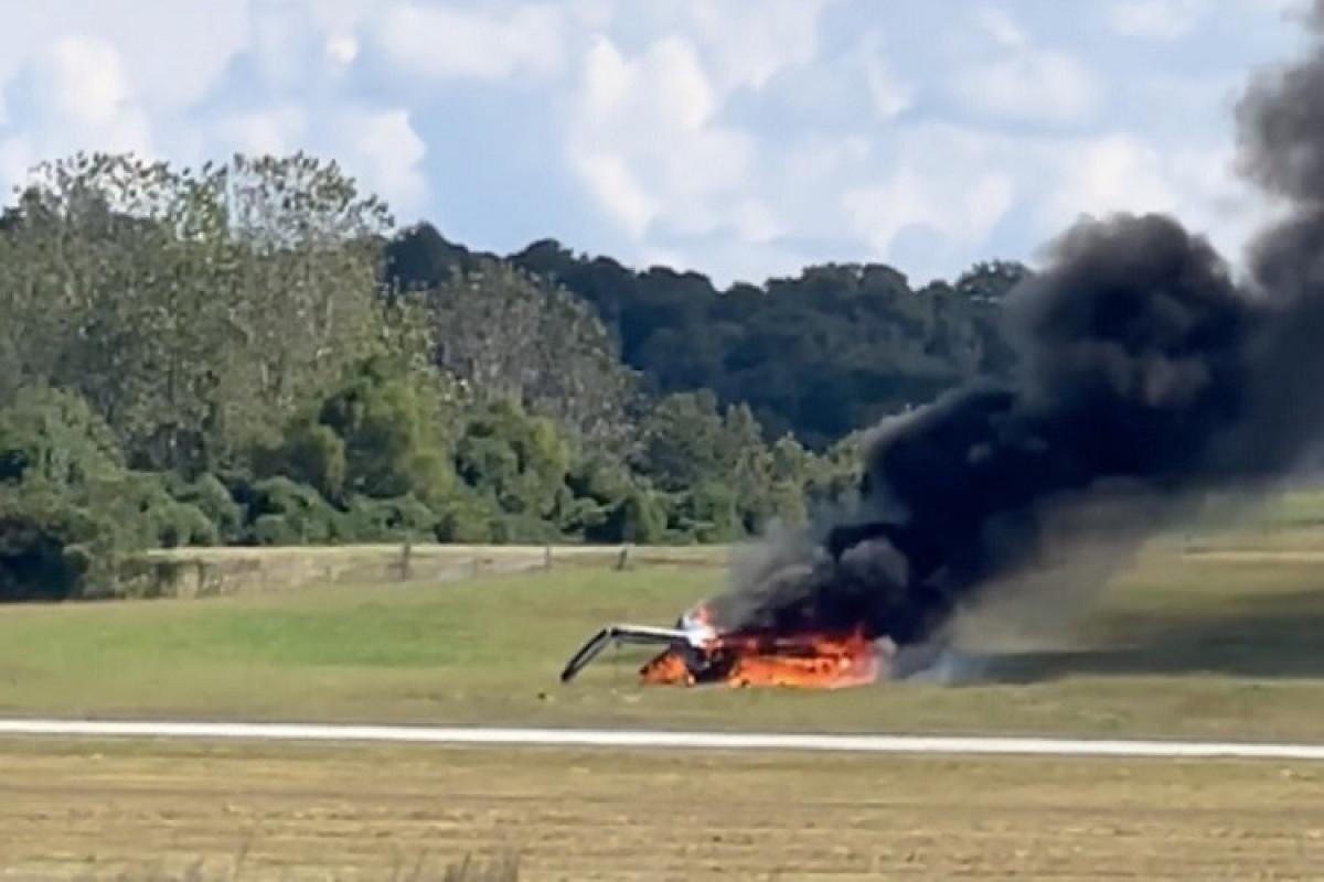 سقوط مرگبار هواپیمای آمریکایی حین برخاستن + عکس