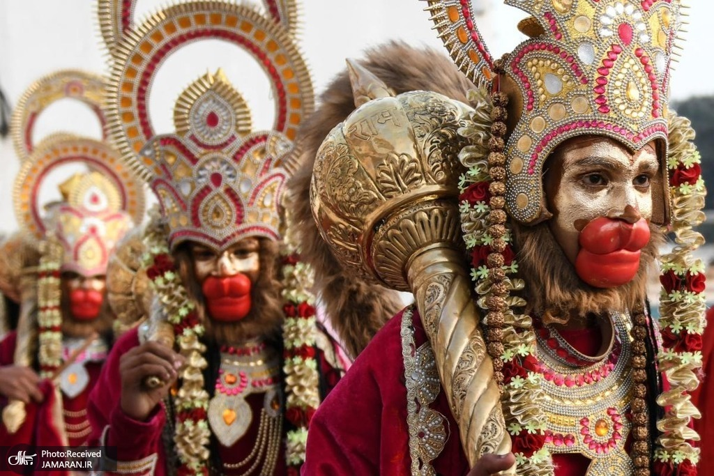 گریم جشنواره هندوها + عکس