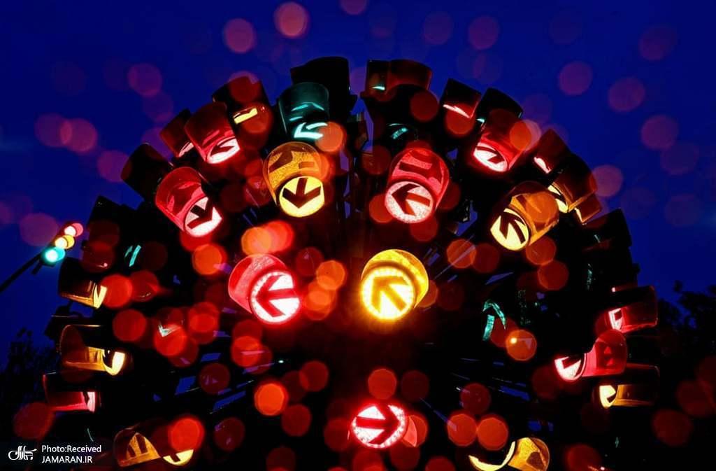 گل چراغ راهنمایی؛ اثری از هنرمندان آلمانی + عکس