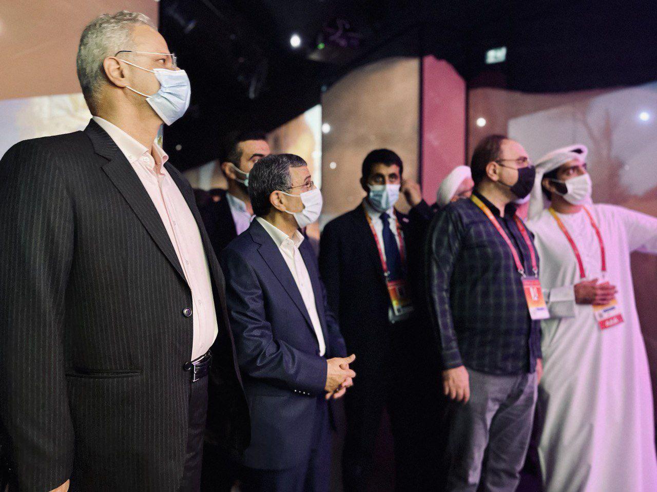 حضور احمدینژاد در نمایشگاه اکسپو ۲۰۲۰ دبی + عکس