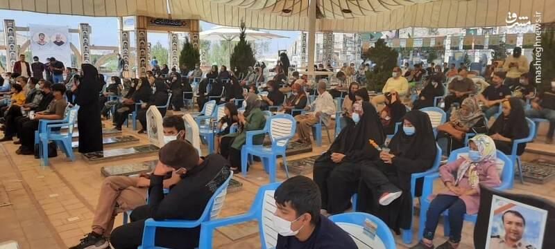 مهمانهای ویژه مزار حاج قاسم سلیمانی + عکس