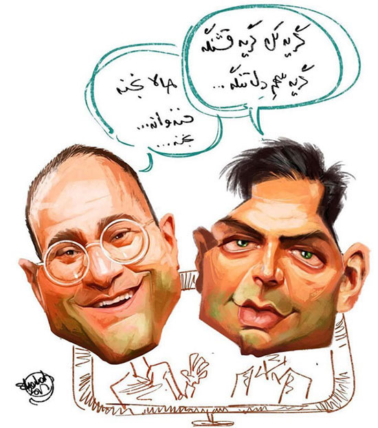 تفاوت رامبد جوان و احسان علیخانی! /کاریکاتور