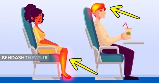 ۱۰ اتفاق عجیبی که در طول پرواز با هواپیما در بدن انسان روی می دهند