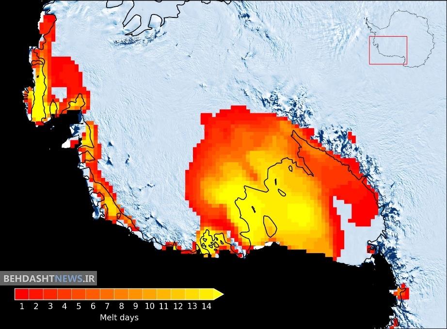 تداوم ذوب شدید یخ های قطب جنوب
