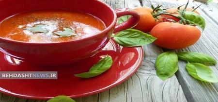 سوپ جو و گوجه فرنگی، سرشار از فیبر و کم کالری