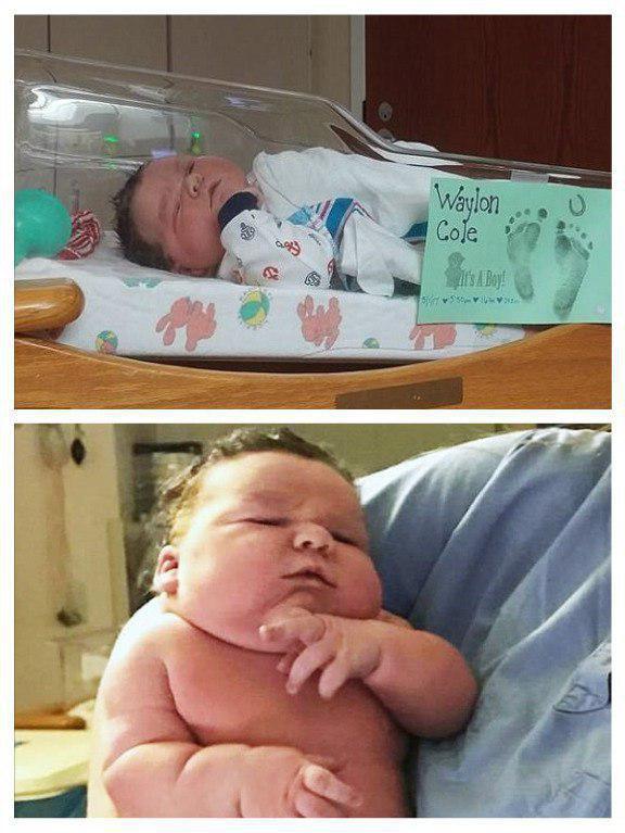 تصویری از نوزاد 7.5 کیلویی متولد شده