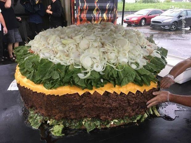 تصاویر؛  بزرگترین همبرگر جهان