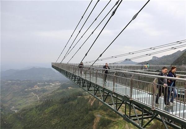 طولانیترین پل شیشهای جهان+تصاویر