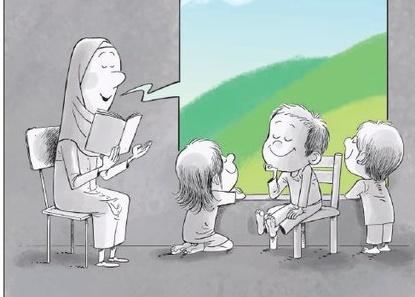 کارتون / کودکانی که در زندان زندگی میکنند