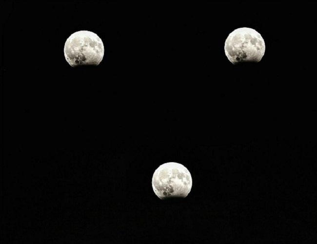 تصاویری از ماه گرفتگی امشب