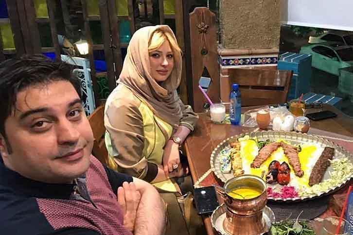 تیپ متفاوت نیوشا ضیغمی در کنار همسرش در یک رستوران + عکس