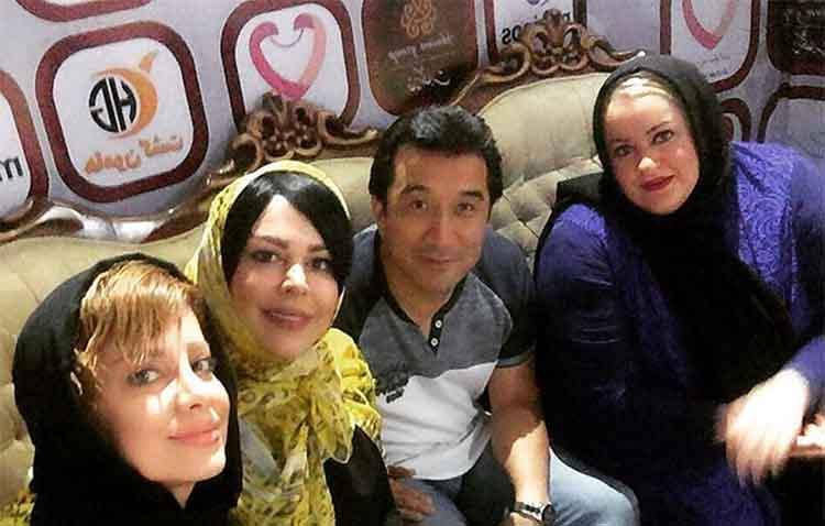 خداداد عزیزی در کنار بازیگران زن! + عکس