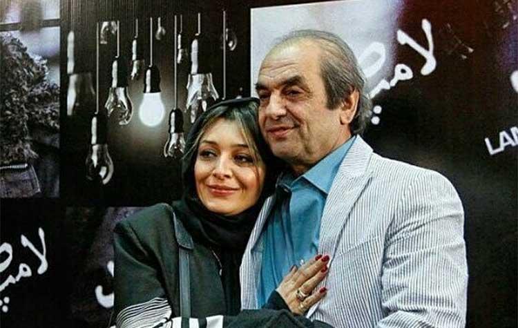 ساره بیات در آغوش پدرش در یک مراسم + عکس