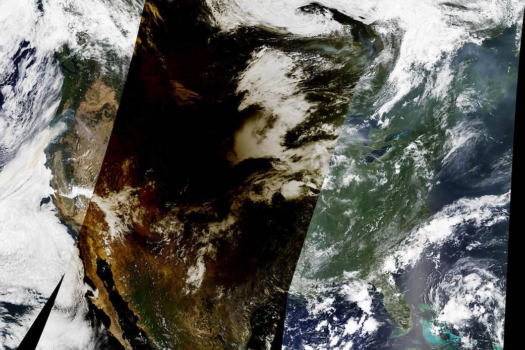 عکس های  زیبای  خورشید گرفتگی از دوربین فضانوردان