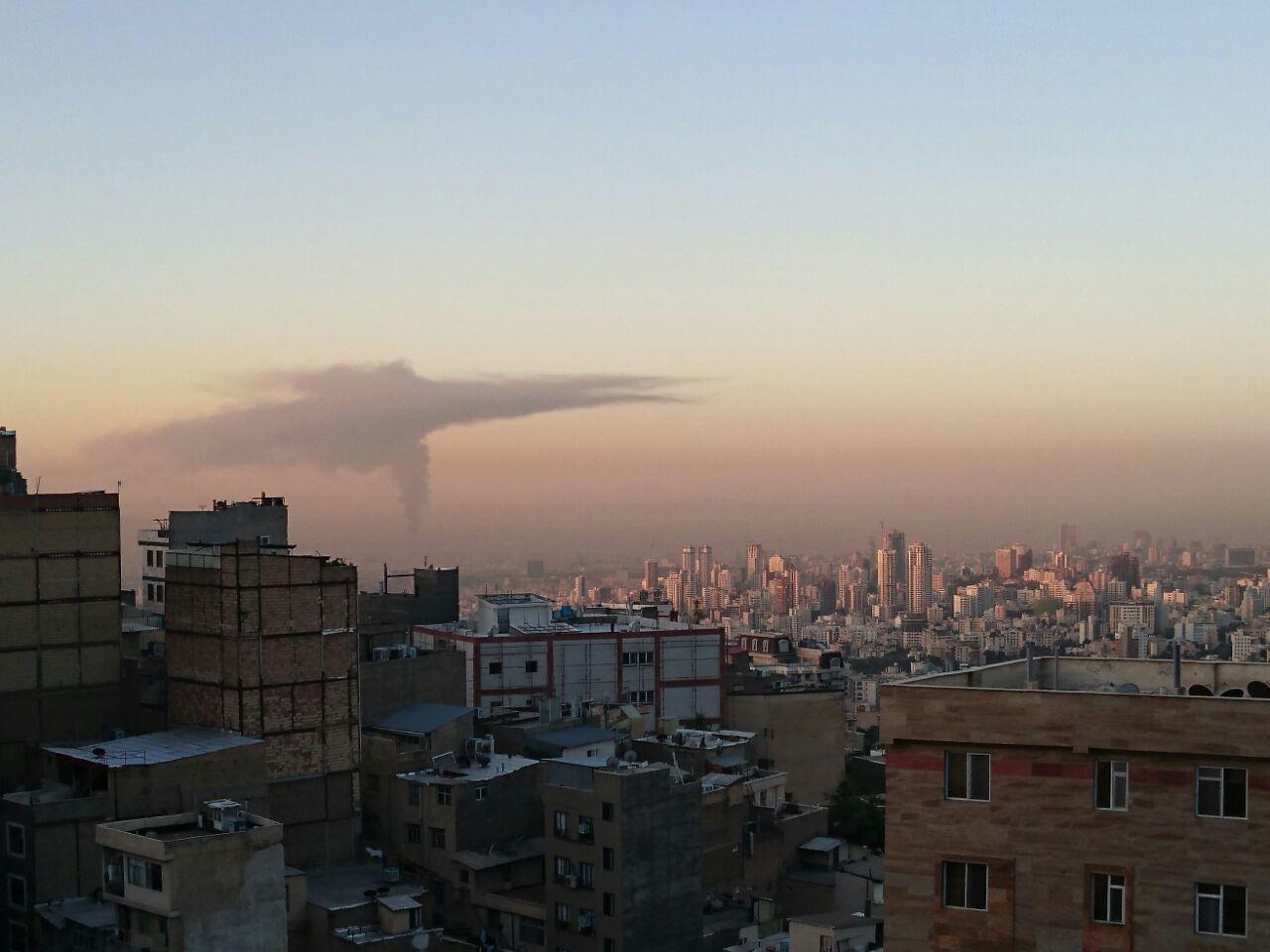 دود غلیظ امروز صبح در تهران + عکس