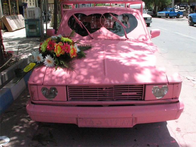 متفاوتترین ماشین عروس در ایران+عکس