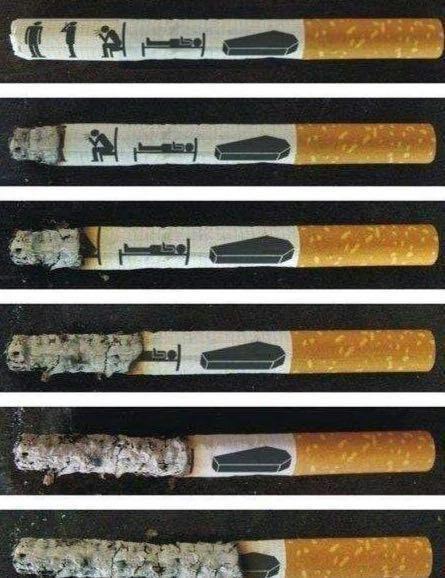 تبلیغ هشدار دهنده جالب برای ترک سیگار