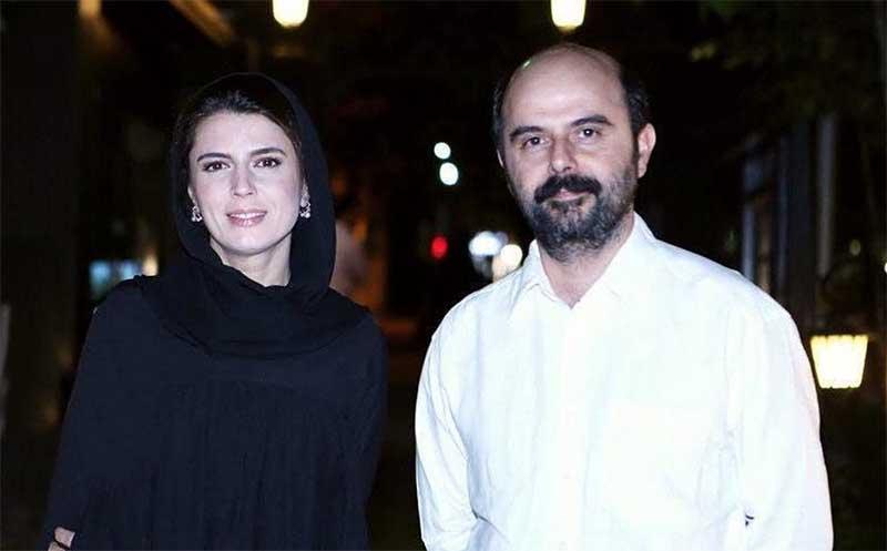 تیپ متفاوت لیلا حاتمی و همسرش دیشب در یک مراسم + عکس