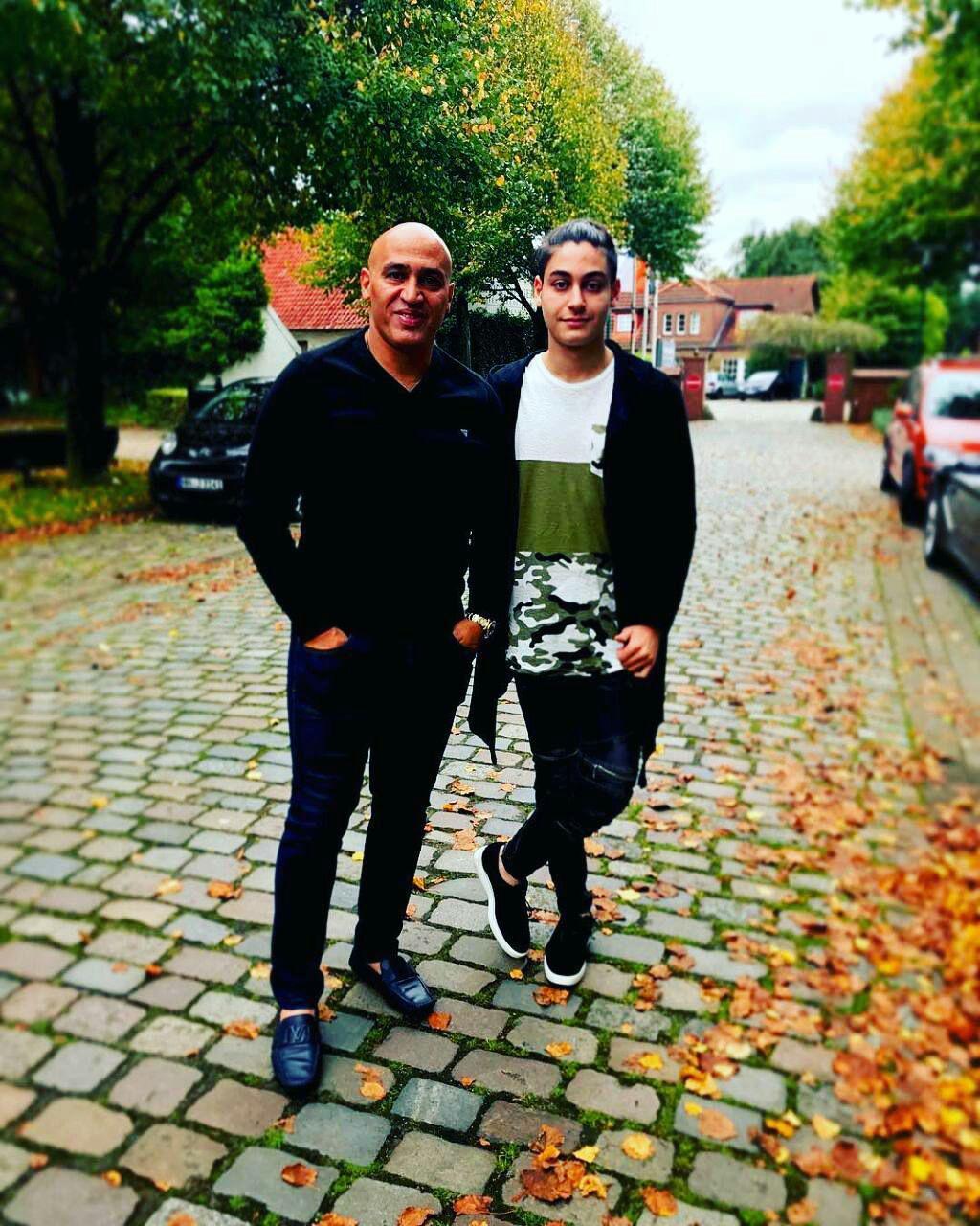 علیرضا منصوریان و پسرش در هامبورگ آلمان+عکس