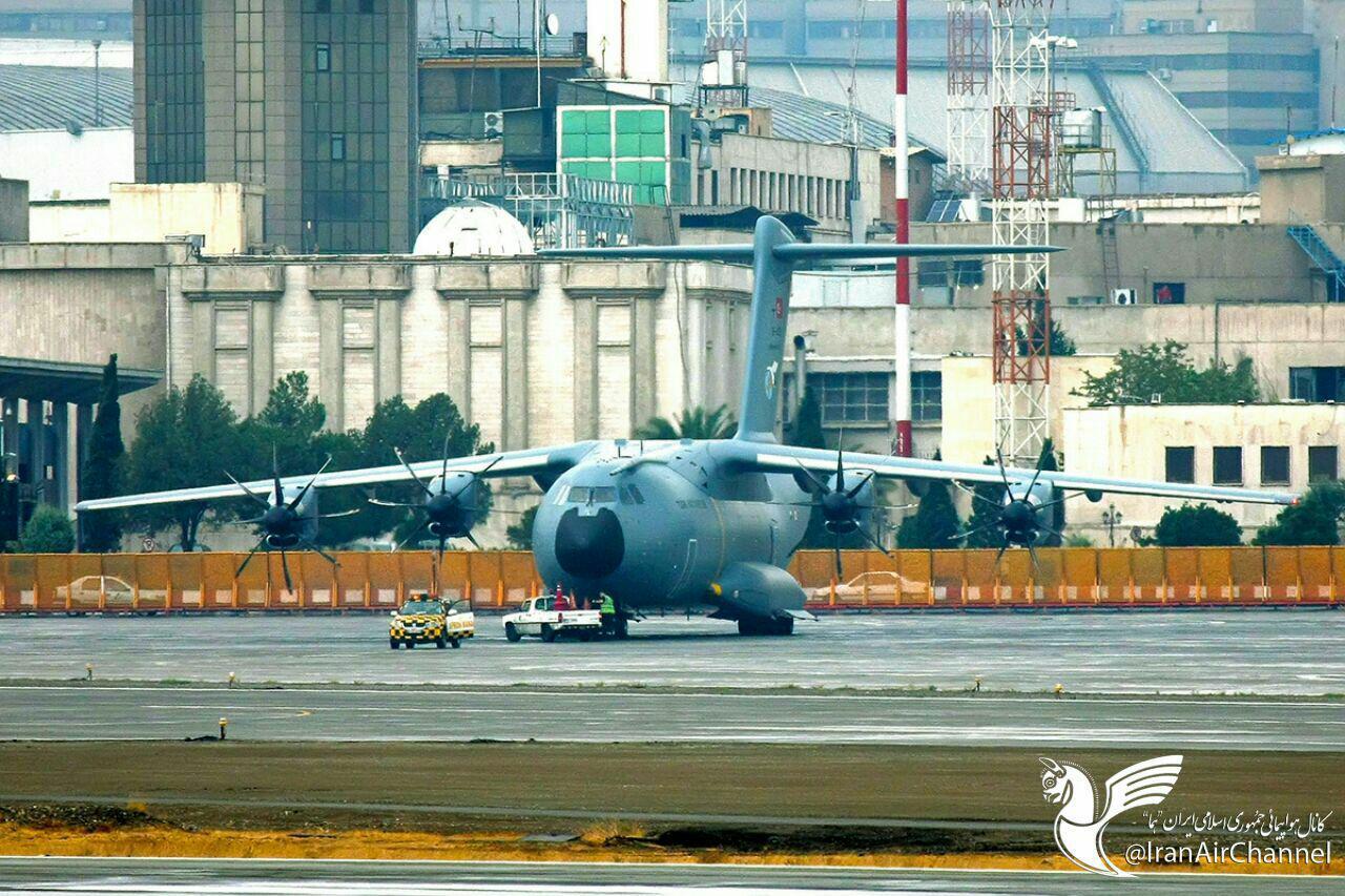 ایرباس  غول پیکر نیروى هوایى ترکیه در فرودگاه مهراباد +عکس