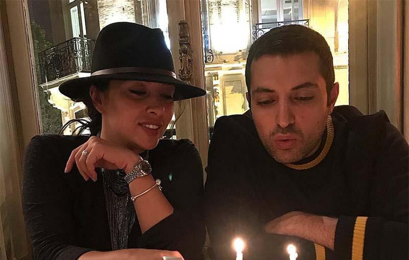 جشن تولد اشکان خطیبی با تیپ متفاوت همسرش در فرانسه! + عکس