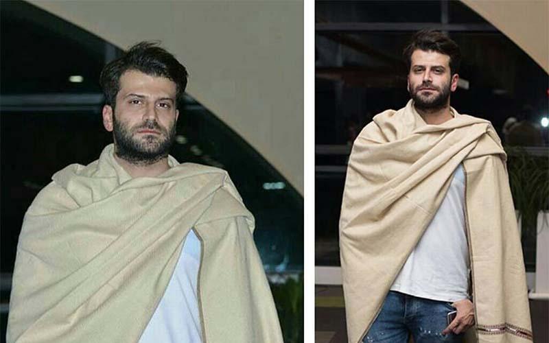 تیپ عجیب و غریب آقای بازیگر دیشب در یک مراسم! + عکس