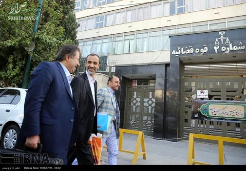 حاشیه دادگاه  امروزحمید بقایی +تصاویر