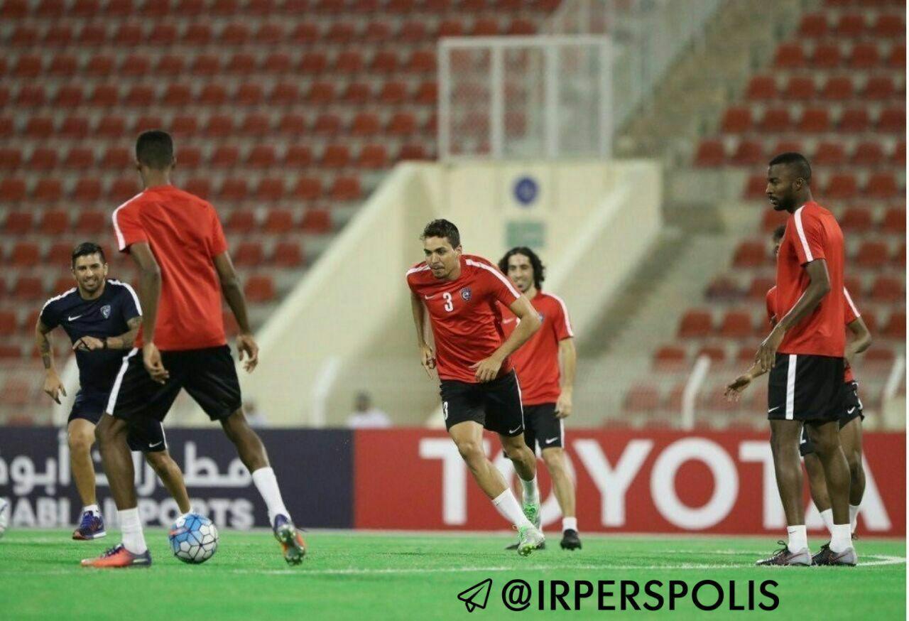تصویری از آخرین تمرین الهلال با پیراهن قرمز(!) پیش از دیدار برابر پرسپولیس