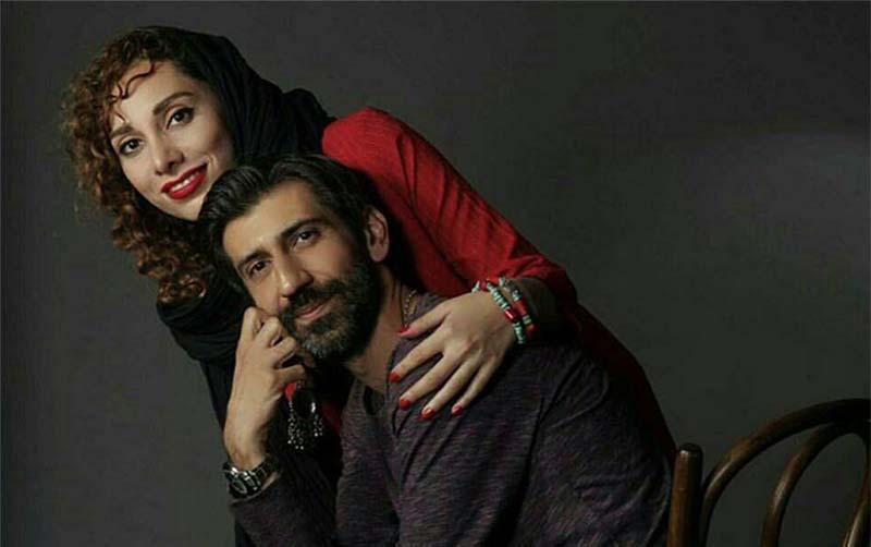 تیپ سینا رازانی در آغوش همسرش! + عکس