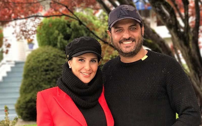 تیپ متفاوت سام درخشانی و همسرش در کانادا! + عکس