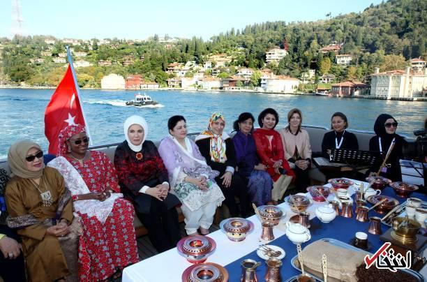 همسر جهانگیری در ضیافت ناهار همسر اردوغان+عکس