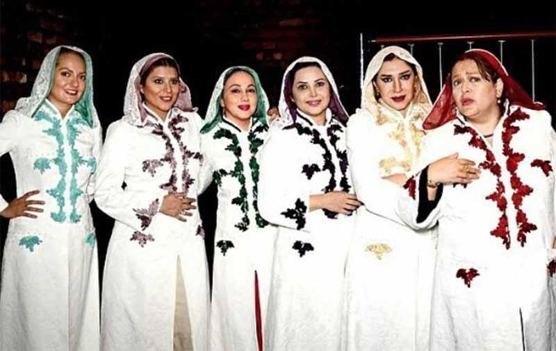 تیپ متفاوت سحر دولتشاهی و بازیگران خانم در یک نمایش! + عکس