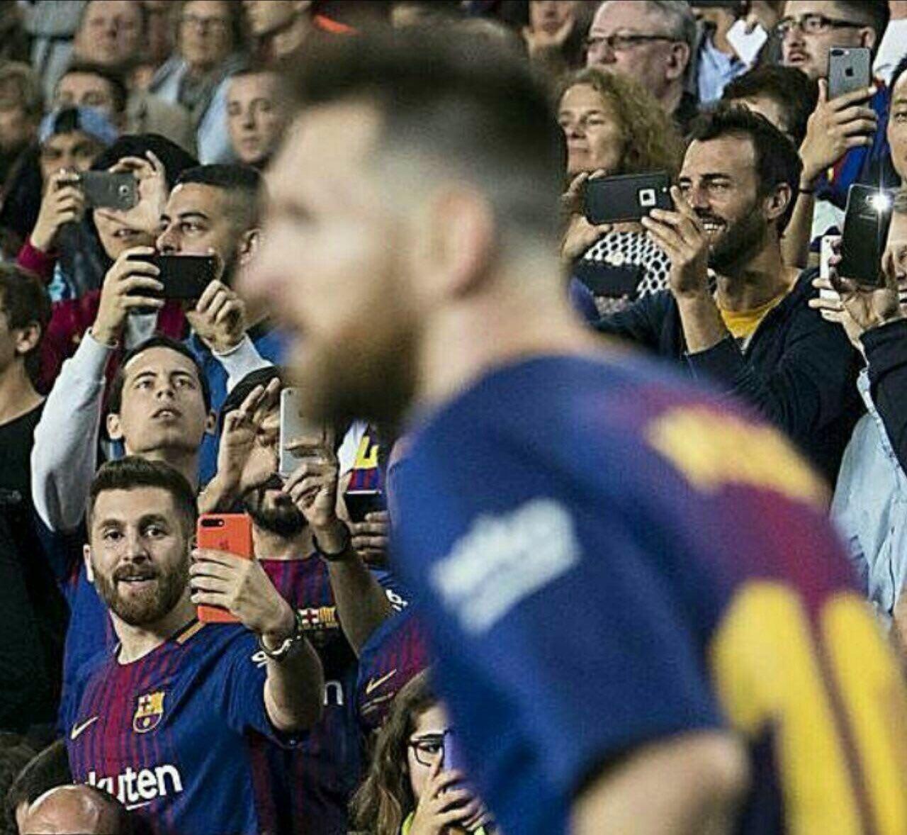 بدل ایرانی مسی در بازی دیشب بارسلونا جنجال ساز شد! + عکس