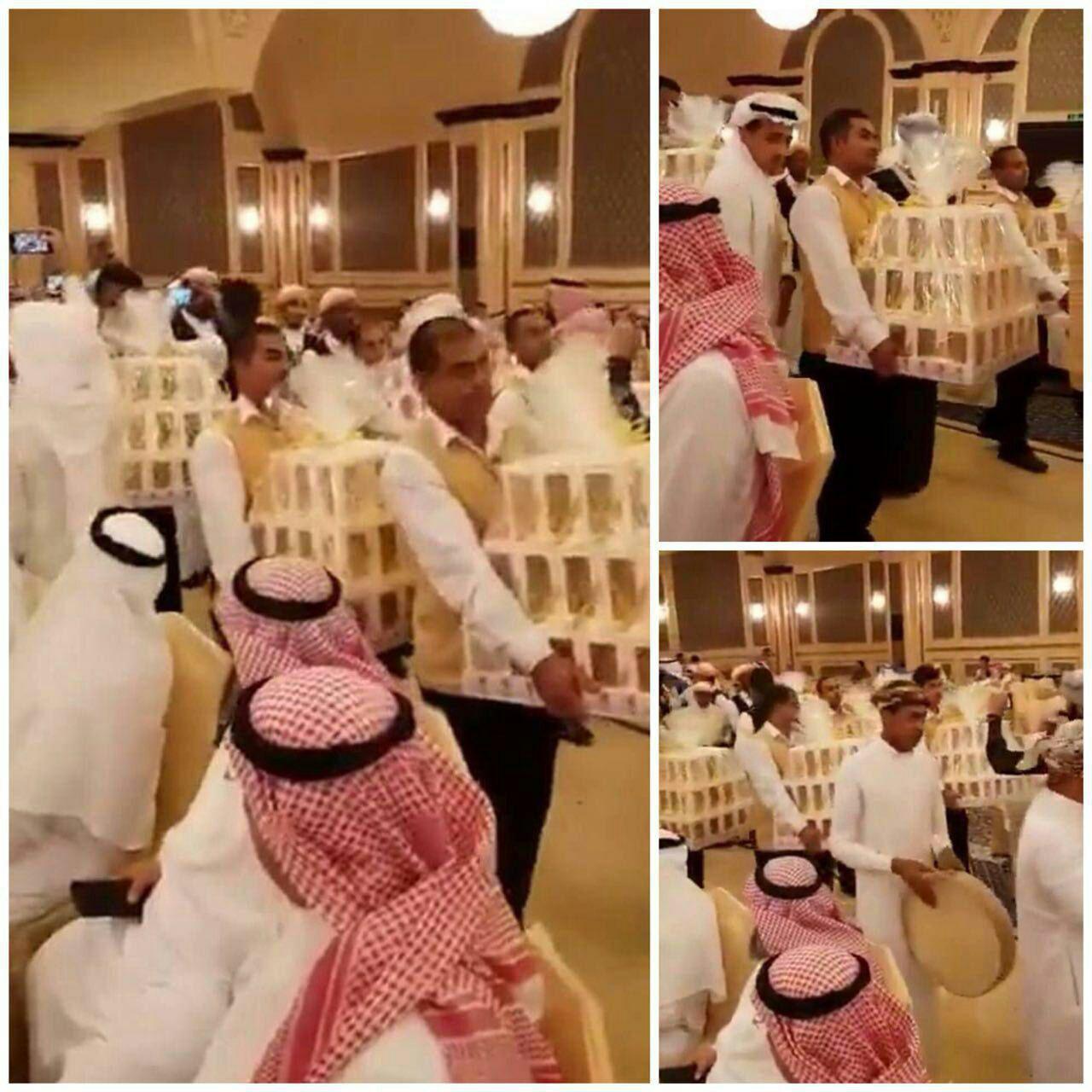 در این عروسی در عربستان مهمانان آیفون 8 کادو گرفتند! + عکس