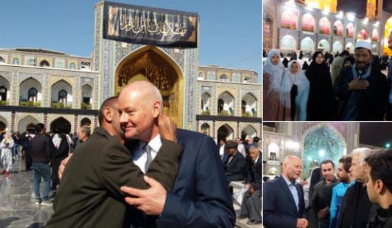 سفیر آلمان در حرم امام رضا(ع)! + عکس
