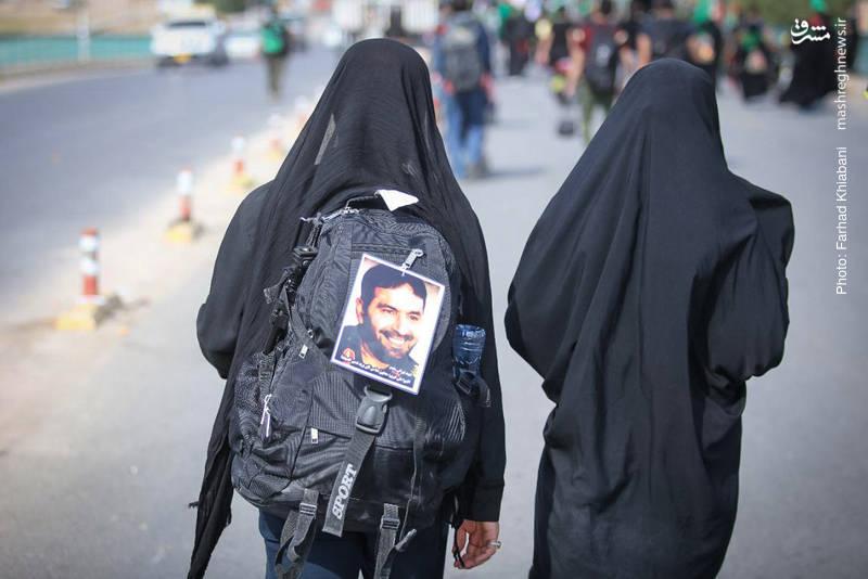 پدر موشکی ایران در پیادهروی اربعین + عکس