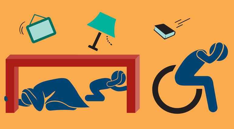 توصیه های ایمنی، حین وقوع زلزله، هنگامیکه در خانه هستید