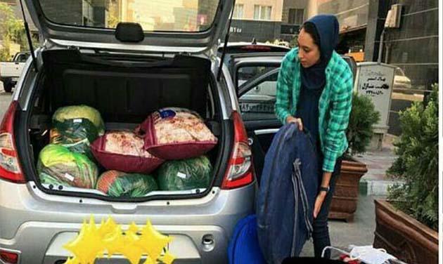 کمک های کیمیا علیزاده به زلزله زدگان غرب کشور + عکس