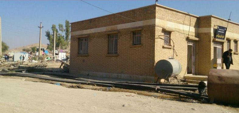 تنها بنای تخریب نشده در روستای سراب ذهاب! + عکس