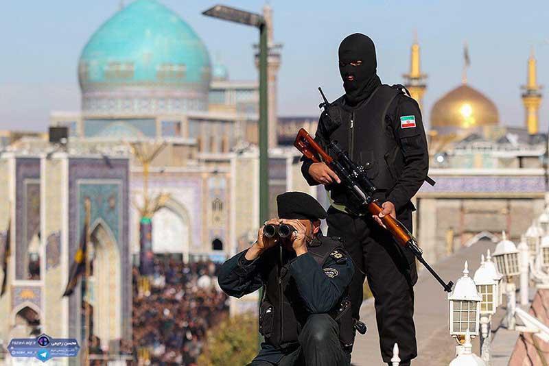 حضور نیروهای ویژه پلیس در اطراف حرم امام رضا + عکس