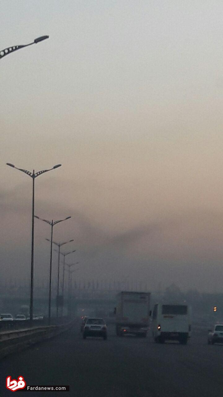 عکسی وحشتناک از آلودگی هوای امروز تهران