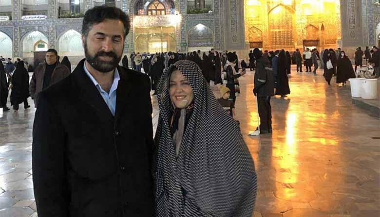 تیپ بهاره رهنما و همسرش در حرم امام رضا! + عکس