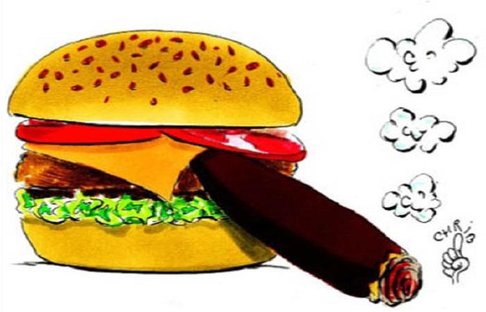 همبرگر یا سیگار؛ کدام خطرناکتر است؟