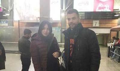 حجاب همسر بازیکن خارجی پرسپولیس در تهران! + عکس