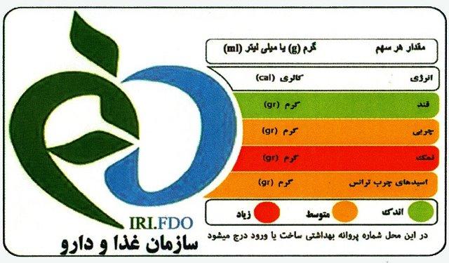 ایران؛ تنها مجری طرح برچسب گذاری نشانگرهای رنگی تغذیهای