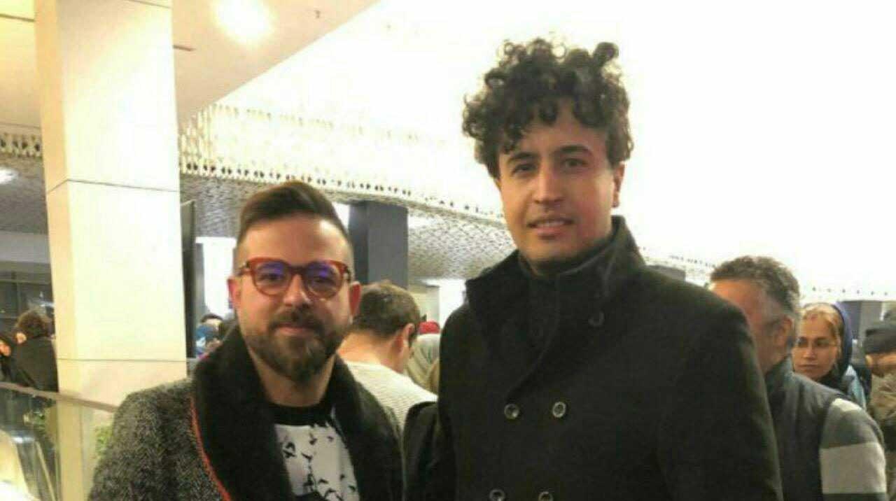 مدل موی عجیب مهرداد صدیقیان در اکران  خصوصی یک فیلم! + عکس