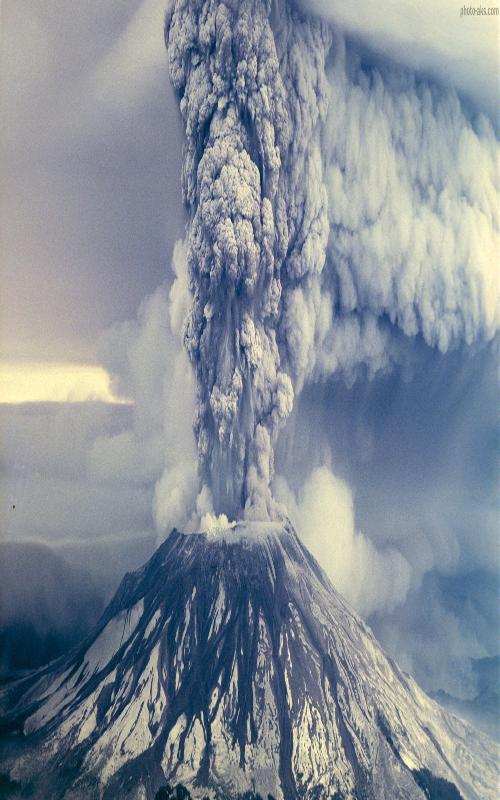 فوران کوه آتشفشان